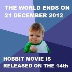 Success kid excited for The Hobbit