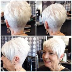 Chic Short Haircuts for Women Over 50 A password will be e-mailed to you. Chic Short Haircuts for Women Over Short Haircuts for Women Over Short Haircuts for Wom # Haircuts For Over 60, Haircuts For Fine Hair, Short Pixie Haircuts, Cool Haircuts, Cool Hairstyles, Gorgeous Hairstyles, Hairstyles 2018, Choppy Haircuts, Braid Hairstyles