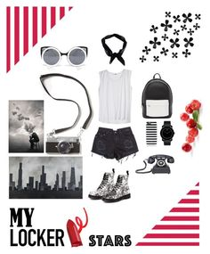 """""""Street"""" by sdbynnc on Polyvore featuring moda, PB 0110, Dr. Martens, Boohoo, Kate Spade, Quay, Movado, Dot & Bo ve Robert and Michelle Casarietti"""