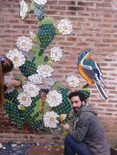 Mosaic Flower Cross PendantWhite Pink and by SallyMaysMosaicArt Mosaic Artwork, Mosaic Wall Art, Tile Art, Mosaic Glass, Mosaic Tiles, Mosaics, Mosaic Crafts, Mosaic Projects, Mosaic Designs