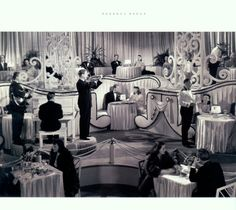 Regency Redux. This set design of the 1930's shows how Hollywood Regency was the style that was made popular by the great black and white movies of this time