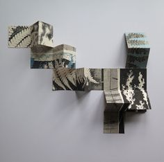 Stef Mitchell - Field and Hedgerow Concertina Book, Accordion Book, Up Book, Book Art, Book Sculpture, Paper Sculptures, Book Projects, Clay Projects, Art Diary