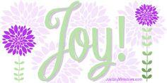Joy! www.justjoyministries.com