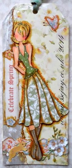 Paper ink and Glue: Prima Doll - Spring Tags