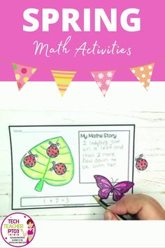 Brighten up any classroom with these fun math activities that double up as a craft activity. They make wonderful wall displays and will actually allow students to demonstrate what they know about basic addition and math problem-solving and are easy to differentiate. #techteacherpto3 #math #craft #activities #spring Math Crafts, Fun Math Activities, Math Problem Solving, Math Problems, Teaching Resources, Spring, Math Resources, Learning Resources