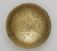 Bowl from Ghaznavid Afghanistan, 12th-13th centuries, high tin bronze, cast, hammered, chased, punched, & engraved