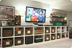 #Basement built in cubby storage!