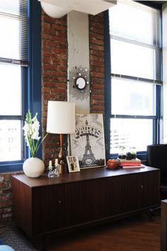 Arthur & Kristin's Sunny Vintage Loft, via apartment therapy