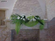 Particolari dell'allestimento in #verde per questo matrimonio