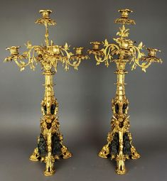 For Auction: Pair of 19th C. French Gilt & Patinated Bronze Figural (#0095A) on Jul 29, 2020 | Prime Auction Gallery, Inc. in CA Candelabra, Candlesticks, Floor Lanterns, French Rococo, Bronze Chandelier, Fine Art Auctions, French Antiques, Sconces, Candle Holders