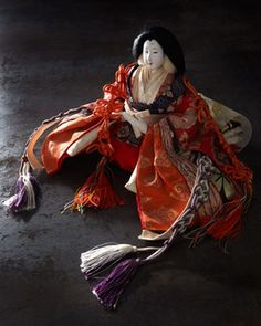Japanese Court Lady Doll - traditional - artwork - Horchow