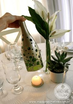 How to Create a Candle Holder from a Wine Bottle - DIY Craft Projects