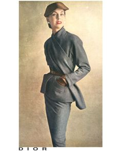 DIAGONAL SCARF Grey flannel suit by #Dior Photo Irving Penn October 1950 Hey @gilaritp, @_danajanahi, @vidisha_sharma7, @neographcomunicacao, @ninja_nanc03! What are you thinking about it?