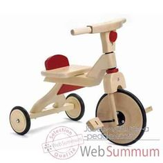 Tricycle Bois Jasper Toys rouges -8653965