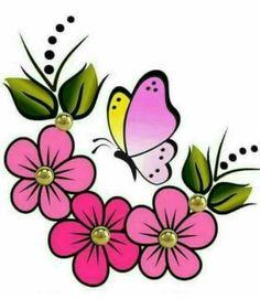 Discover thousands of images about 39 Ideas flowers print design clip art Flower Prints, Flower Art, Art Flowers, Paper Flowers, Image Illusion, Rock Flowers, Fabric Paint Designs, Painted Flower Pots, Flower Doodles