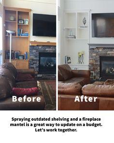 Beautiful Interior Design, Fireplace Mantels, Shelving, Design Ideas, Shelves, Fireplace Mantel, Shelving Units, Shelf, Fireplace Shelves