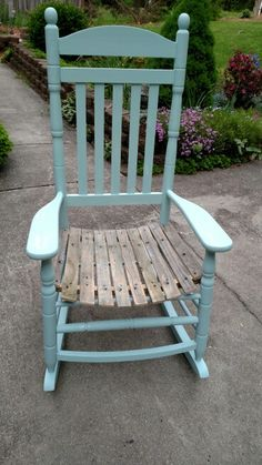 Rocking Chair DIY! I Ripped Out The Old Rotten Seat And Replaced