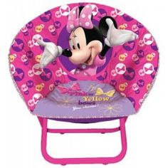 Unique Design Kids Disney Minnie Mouse Toddler Saucer Chair Foldable frame