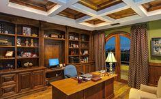 Традиционный Книжные шкафы домашнего офиса Идеи дизайна, картинки, реконструировать и Декор