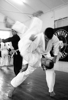 Practice your break falls on the tatami, so that when you're thrown on a hardwood floor, you'll be able to get back up.