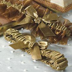 Bronze Elegance Two Piece Bridal Garter Set