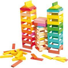Imaginația nu cunoaște limite cu acestă jucărie educativă din lemn! Cărămizile colorate pot deveni imediat o barcă, un turn de apărare sau un avion gata de zbor.  #woodentoys #jucariieducative #kidsplay #jucariidinlemn #woodencubes #jucariionline #creative Preschool Learning Toys, Wood Games, Mini Games, Jenga, Plank, Wooden Toys, Rainbow, Gifts, Discount Toms
