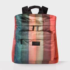 Paul Smith Men's 'Painted Rainbow Stripe' Print Backpack