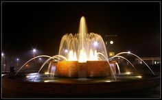 Downtown Water Fountain, Greer, SC - An amazing fountain - they time the music with the movement of the fountain