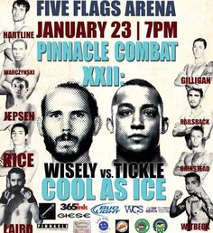 Fight Card is out for @combatcaptain #PinnacleCombat #MMA XXII: Cool As Ice! Coming to the #FiveFlagsCenter January 23rd in #Dubuque #Iowa! #UFC #CedarRapids #Madison