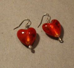Great for Valentine's Day! Red Heart Dangle Earrings by APromisedHope on Etsy