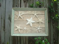 Starfish Wall Decor | Framed Starfish Wall Decor by MyHoneypickles on Etsy
