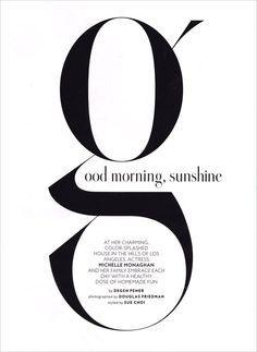 The Typofiles: InStyle Magazine Instyle Magazine, Cosmopolitan Magazine, Typography Poster, Graphic Design Typography, Lettering Design, Design Letters, Typography Alphabet, Layout Design Inspiration, Typography Inspiration