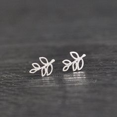 Tiny branch earrings Sterling silver branch by somethingsepical