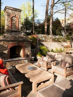 Terraced outdoor living, beautiful fireplace, great entertaining space.