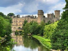 """Warwick Castle – England's finest medieval castle Invaded, embattled, and besieged by way of centuries of warfare, Warwick Castle (pronounced """"Worrick"""") English Castles, Scottish Castles, Castle Ruins, Medieval Castle, Warwick Castle, Uk Destinations, Castles In England, Beautiful Castles, London England"""