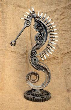 Sculpture from scrap by Volodymyr Vasyliuk (Ukraine). (Car Parts).=3