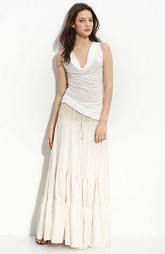 Tiered skirt... boho chic.