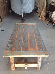 Recycled Timber Table | eBay