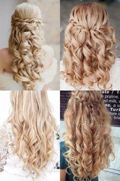 Fryzury na wesele loki z warkoczem Wedding Looks, Loki, Hairdresser, My Hair, Wedding Hairstyles, Hair Makeup, Hair Beauty, Prom, Long Hair Styles