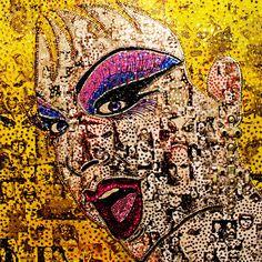 Divine! Collage art, pop art, drag queen, by Ben Youdan.