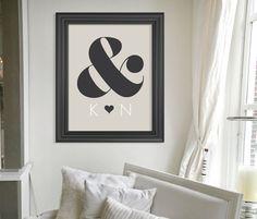 Custom Gift for Newlyweds // Personalized Engagement Gift // Modern Wedding Gift Keepsake Art Print // Anniversary Gift // Gift for Couple. $24.00, via Etsy.