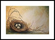 Nest Of Twigs Framed Print by Michelle Lake