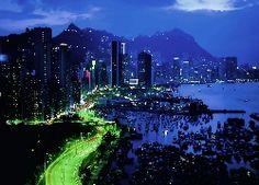 Drapacze, Chmur, Zatoka, Marina, Jachty, Hong Kong, Miasto, Nocą