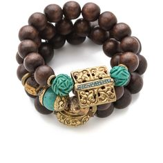 Lacey Ryan Protection Bracelet Set ($180) ❤ liked on Polyvore