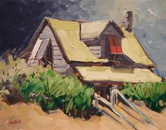 """Daily Paintworks - """"Beach Cottage 15"""" by Kevin Larson"""