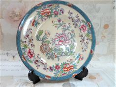 Antique Ironstone Plate Java Pattern Possibly Mason's English Ceramics Display Interiors Home Decor by BelieveToBeBeautiful on Etsy
