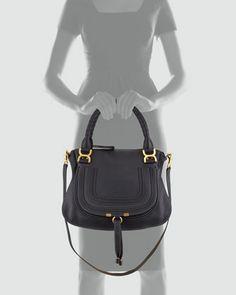 Chloe Marcie Medium Shoulder Bag, Black