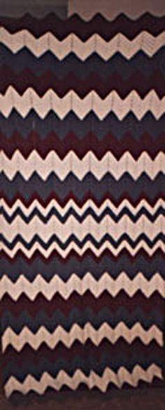 Chunky Ripple Crochet Afghan Pattern