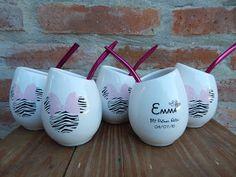 Tazas Mates Hornitos Boda Casamiento Souvenir Personalizados - $ 65,00 Wine Glass, Tableware, Projects, Gifts, Victoria, Honey, Panda Decorations, Mermaid Party Decorations, Souvenir Ideas