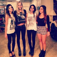 love all their outfits, minus the fact that they're all wearing heels